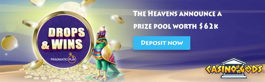 Casino Gods Drops & Win Offer