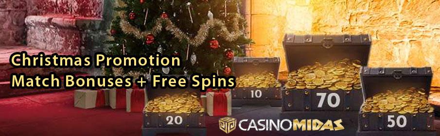 Casino Midas Christmas Offer – Match Bonuses & Free Spins