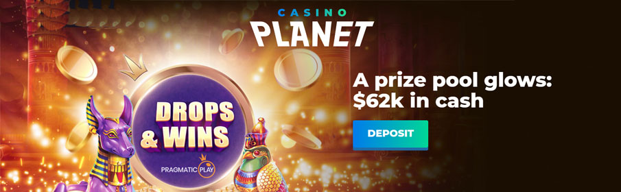 Casino Planet Drops & Win Offer - £62,000 Prize Pool