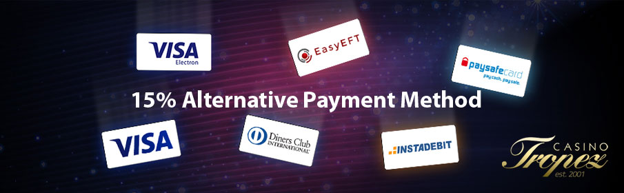 Casino Tropez Alternative Payment Method Bonus