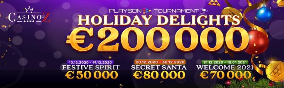 Casino-Z Holiday Delights €200,000 Cash Prize Bonus