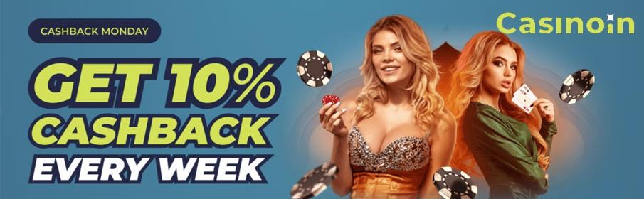 Casinoin Monday Cashback Bonus