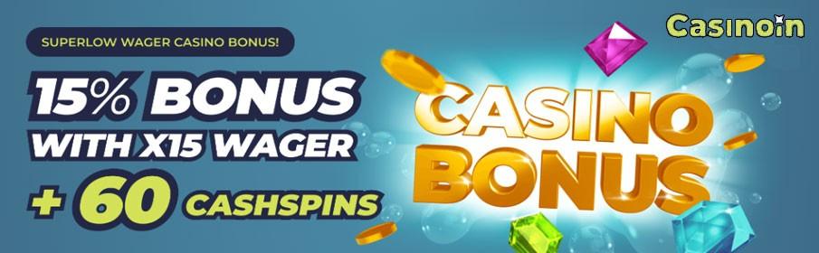 Casinoin Super Low Wager Bonus