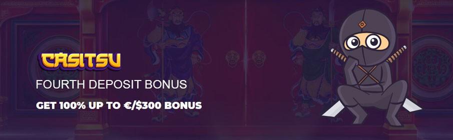 Enjoy your Fourth Deposit Welcome Bonus