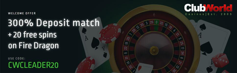 Club World Casino Signup Bonus