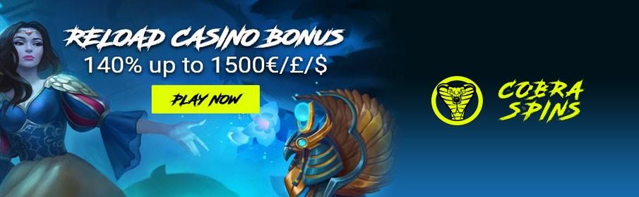 Cobra Spins Casino Reload Bonus