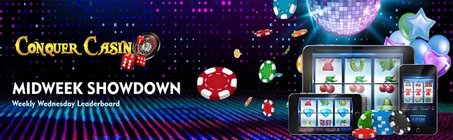 Conquer Casino Midweek Showdown Bonus