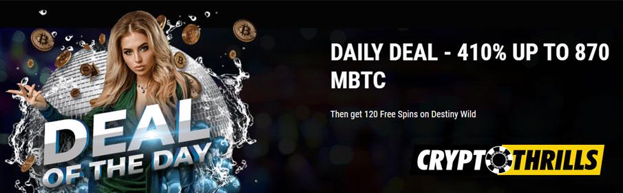 Crypto Thrills Casino Deal of the Day Bonus