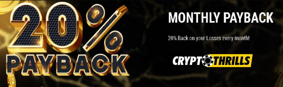 Crypto Thrills Casino Payback Bonus