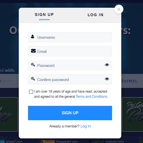 Cryptobet Casino Registration Form