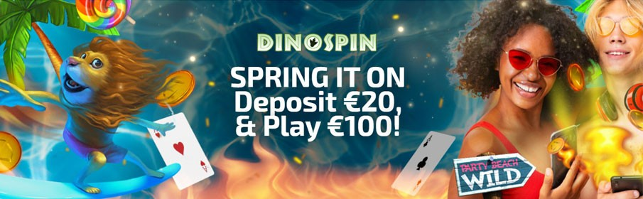 Dinospin Casino 500% First Deposit Bonus