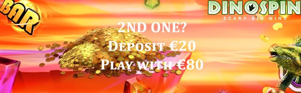 Dinospin Casino Second Deposit Bonus
