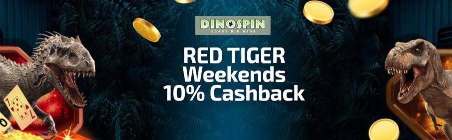 Dinospin Casino 10% Weekend Cashback Bonus