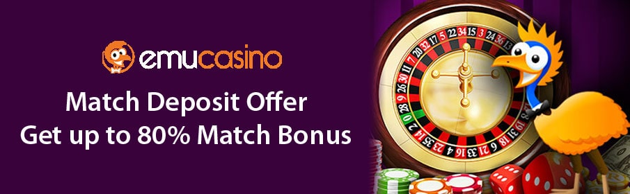 Emu Casino Match Deposit Offer