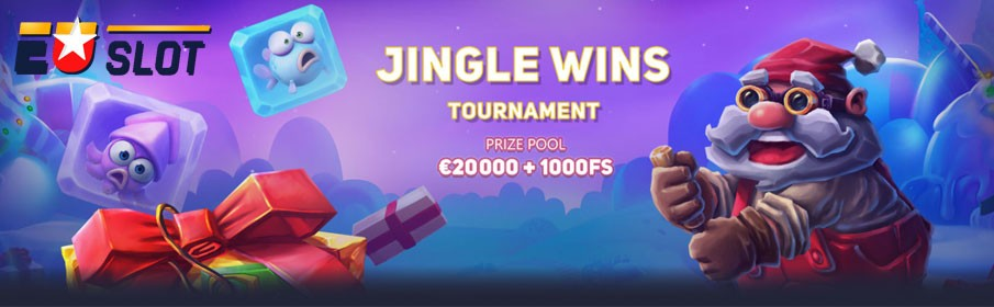 Cash Pool of €20,000 Plus 1000 Free Spins via 'Jingle Wins' Tournament