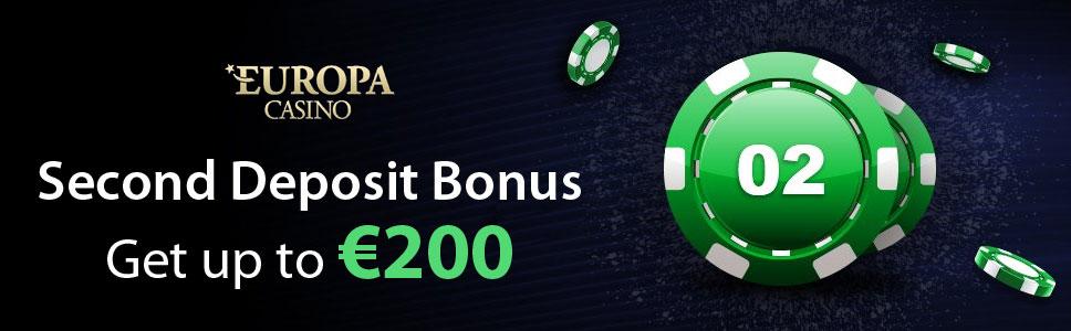 Europa Casino Second Deposit Bonus