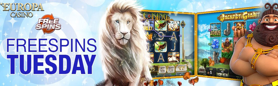 Europa Casino Tuesday Free Spins Bonus
