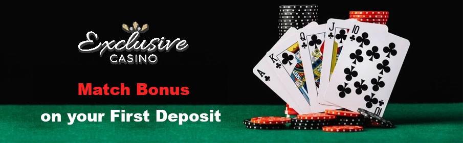 Exclusive Casino First Deposit Bonus