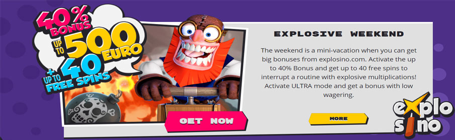 Explosino Casino Weekend Bonus