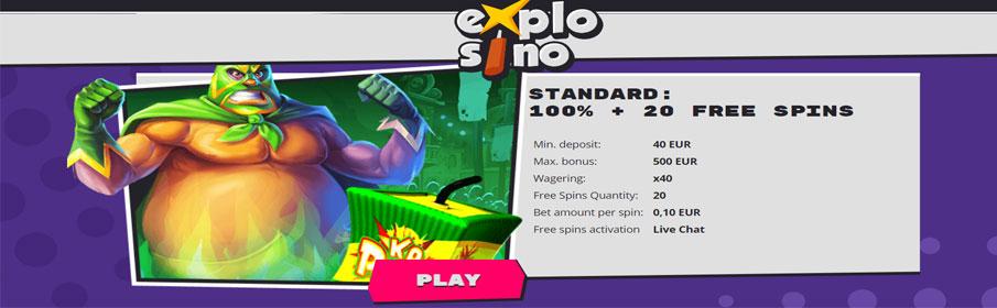 Explosino Casino Welcome Bonus