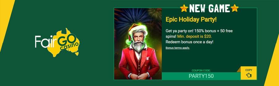 Fair Go Casino 150% Match Bonus & 50 Free Spins
