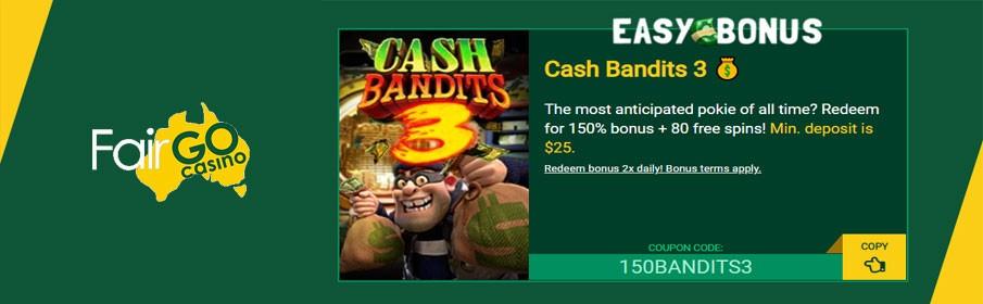 Fair Go Casino 150% Match Bonus & 80 Free Spins