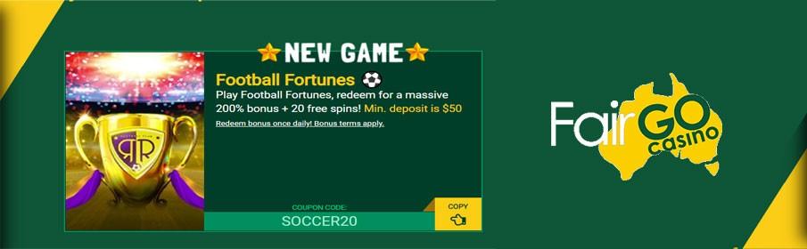 Fair Go Casino 200% Match Bonus & 20 Free Spins