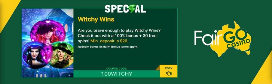 Fair Go Casino 100% Match Bonus & 30 Free Spins