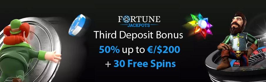 Fortune Jackpots Casino Third Deposit Bonus