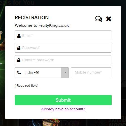 Fruity King Casino Register