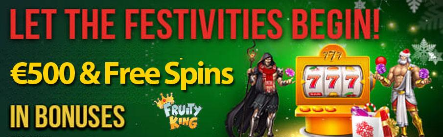 Fruity King Casino Festive Rewards Promotion