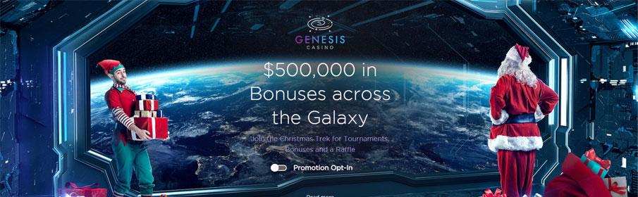 Prize Pool of $500,000 via Christmas Promotion at Genesis Casino