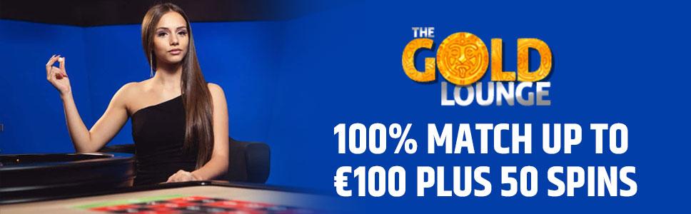 The Gold Lounge Casino Welcome Bonus