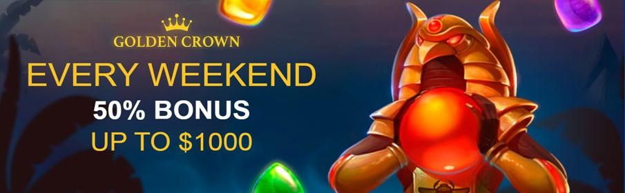 Golden Crown Casino Reload Weekend Bonus