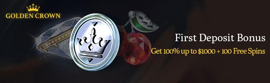 Golden Crown Casino First Deposit Bonus