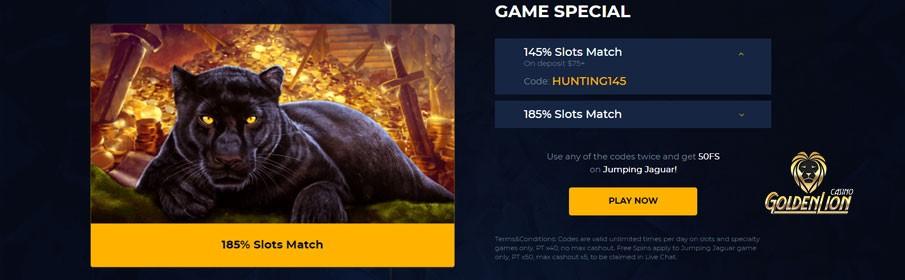 Golden Lion Casino Game Special Bonus