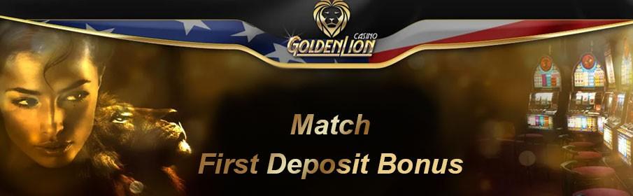 GoldenLion Casino First Deposit Bonus