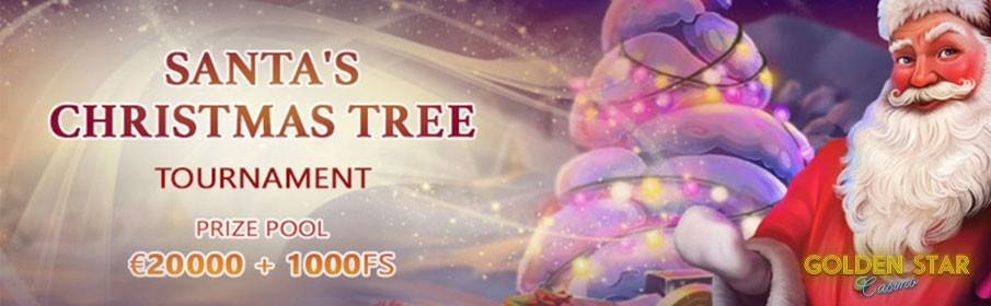 €20,000 Prize Pool Pls up to 1000 Free Spins in the Santa's Christmas Tree Tournament