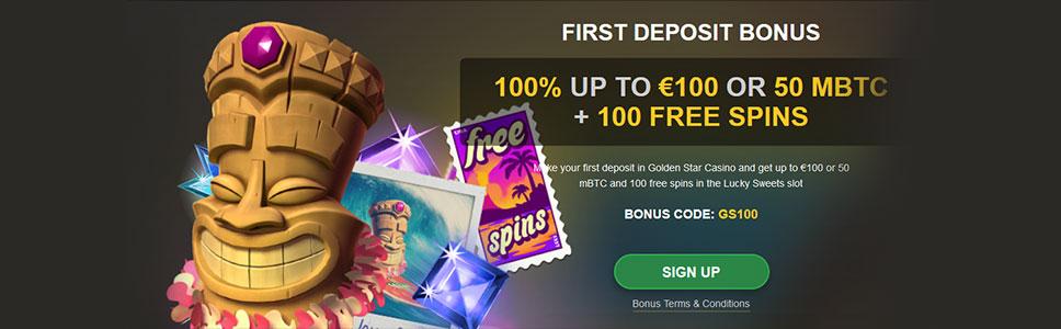 Golden Star Casino First Deposit Offer