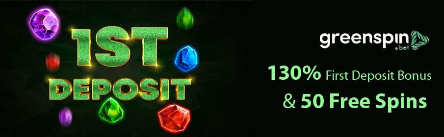 GreenSpin Casino First Deposit Bonus