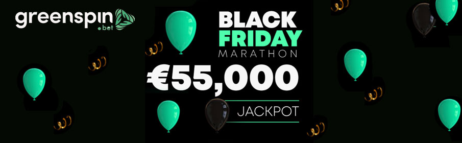 GreenSpin Casino Black Friday Jackpot Marathon Promotion