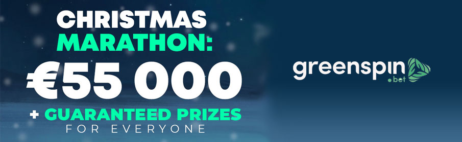 EUR 55000 with the GreenSpin Casino Christmas Marathon Promotion