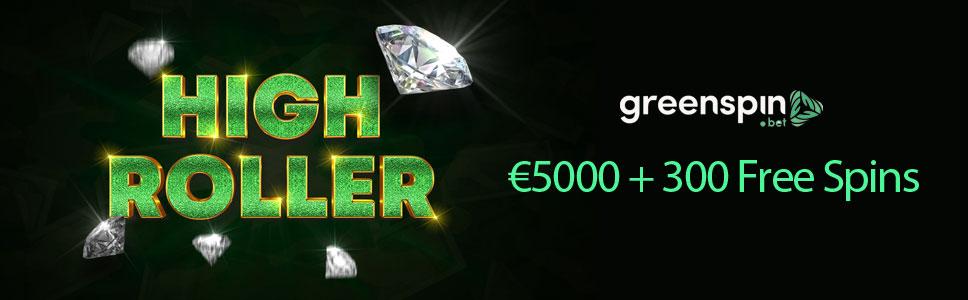 GreenSpin Casino High Roller Welcome Bonus