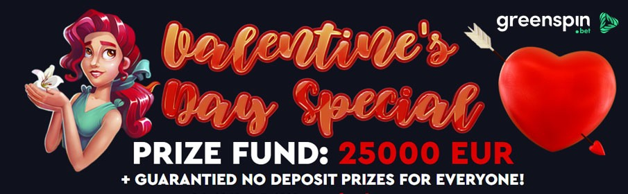 GreenSpin Casino Valentine Day Special
