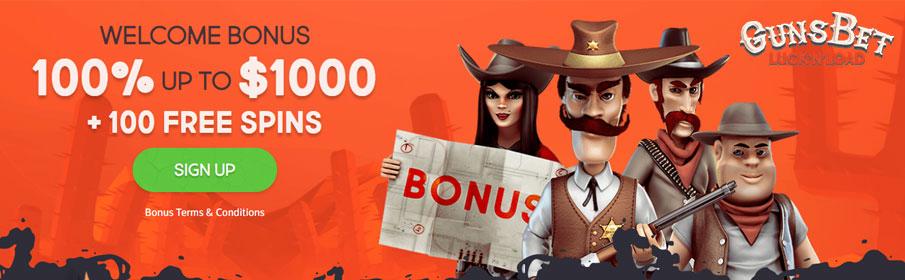 GunsBet Casino New Player Bonus