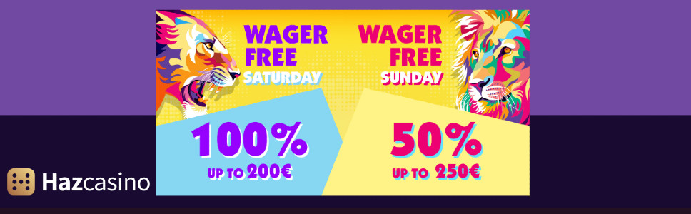 Haz Casino Weekend party Bonus