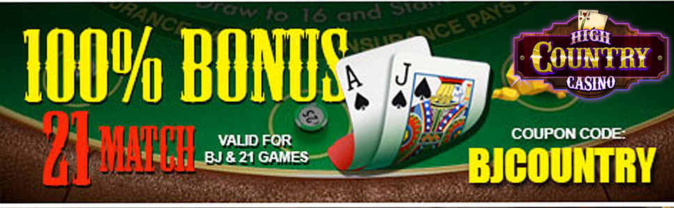 High Country Casino 100% Reload Games Bonus up to $250