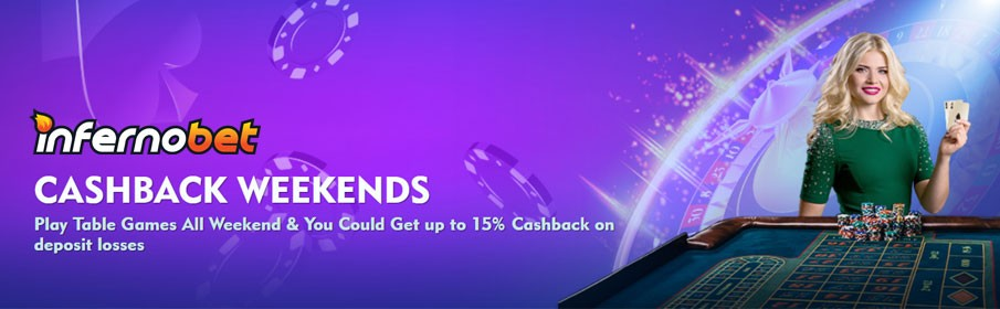 £500 Weekend Cashback Bonus at Inferno Bet Casino