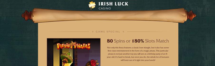 Irish Luck Casino Games Bonus
