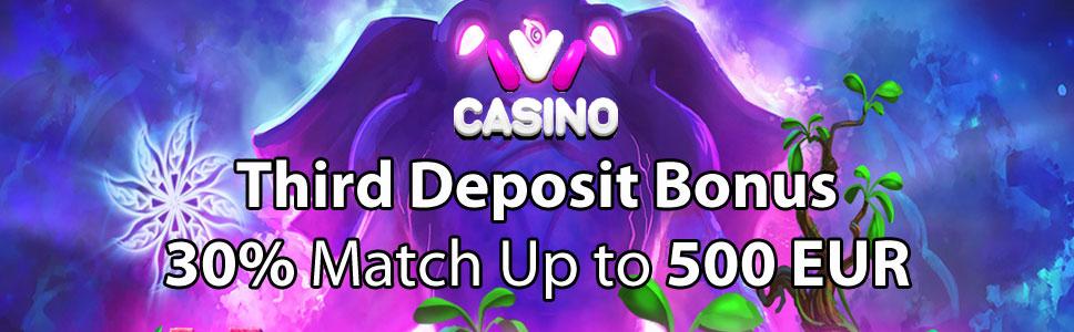 Ivi Casino Third Deposit Bonus
